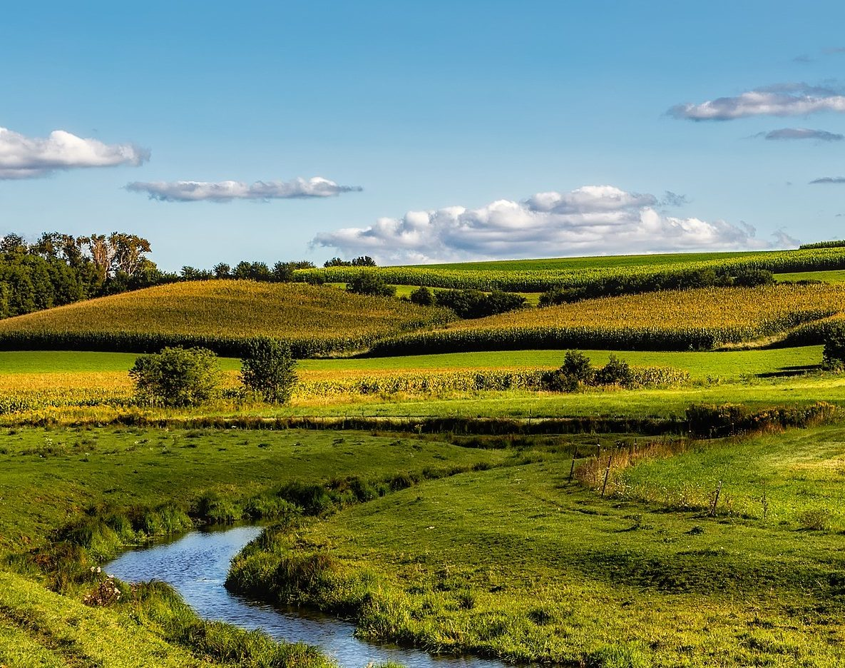 photo of Wisconsin fields and running water