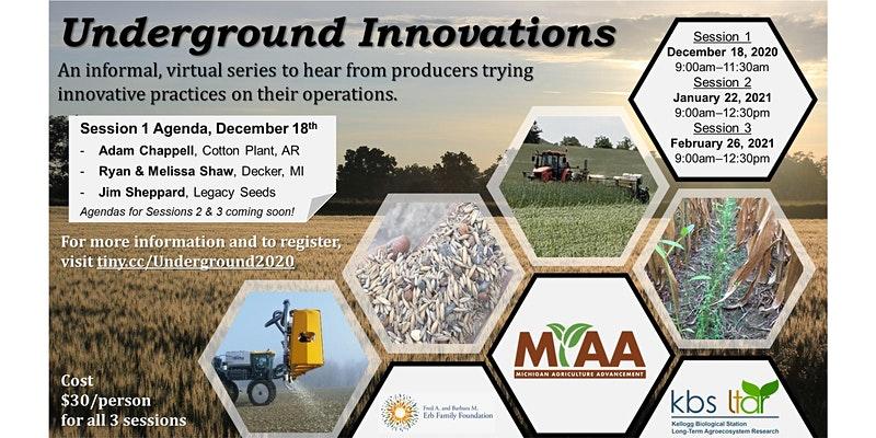image of underground innovations flyer