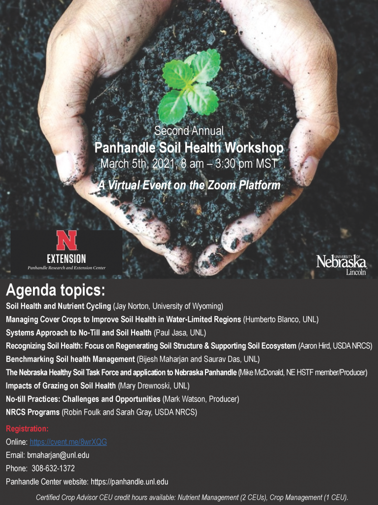 flyer for the panhandle soil health workshop 2021